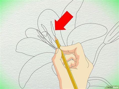 3 Ways to Draw a Lily wikiHow