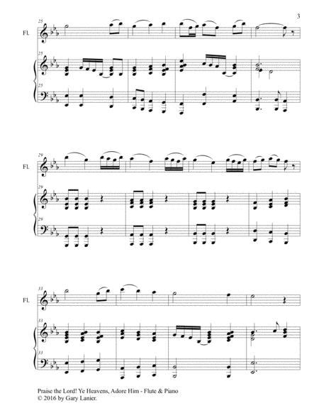 3 Hymns Of Praise Encouragement Duets For Flute And Piano  music sheet