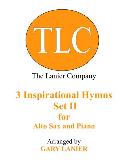 3 Inspirational Hymns Set Ii Duets For Alto Sax Piano music sheet