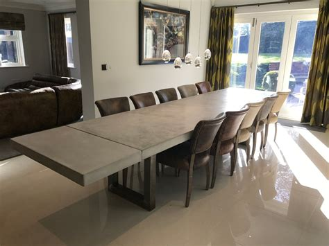 3 metre polished concrete dining table houzz