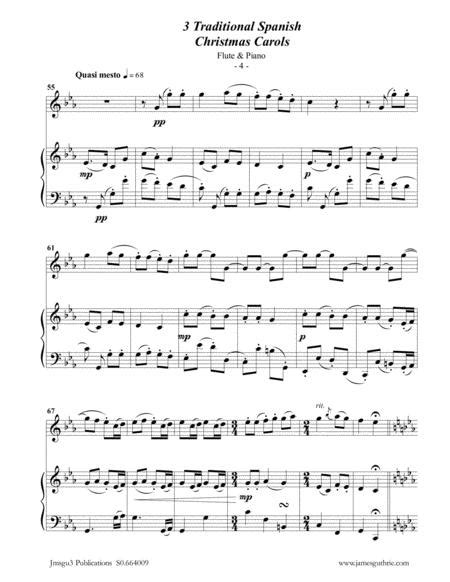 3 Traditional 14th Century Christmas Carols For Flute Viola Cello  music sheet