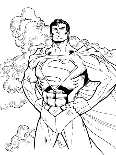 30 Awesome Superhero Coloring Pages for Sharpening your