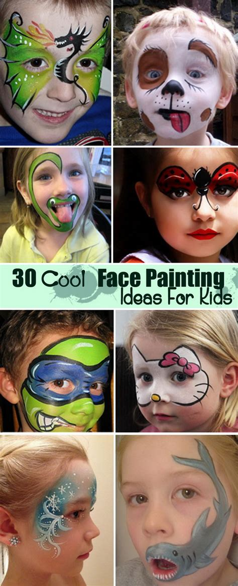 30 Cool Face Painting Ideas For Kids Face paintings