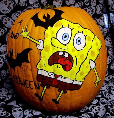 30 Funny Faced Halloween Pumpkin Drawings and Painting