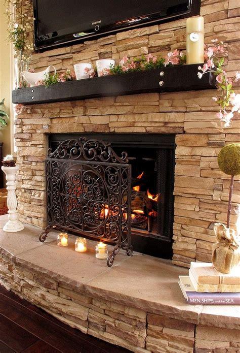 34 Beautiful Stone Fireplaces That Rock Homedit