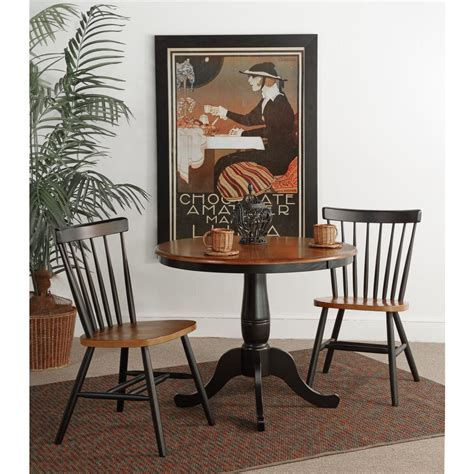 36 Round Pedestal Dining Table with 2 Copenhagen Chairs