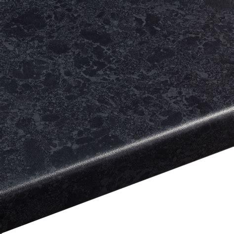 38mm Midnight Granite Black Satin Stone Effect Round Edge
