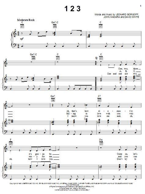 39 One 2 Three  music sheet