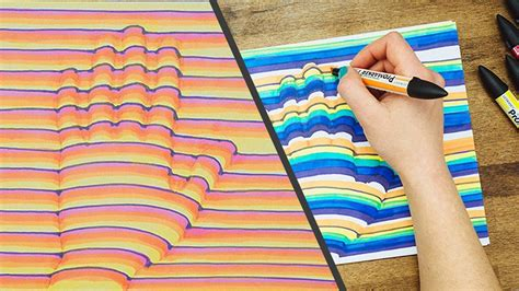 3D Hand Drawing Step by Step How To Trick Art Optical Illusion