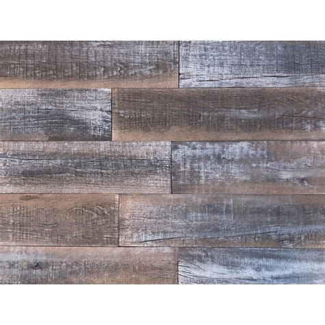 3D Reclaimed Wood Decorative Gray Wall Planks 10 Sq Ft