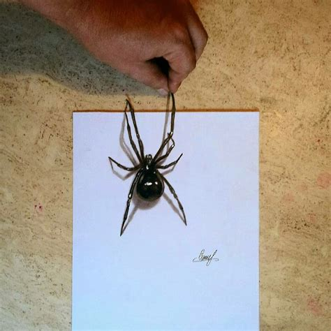 3D Spider Drawing AMAZING realistic illusion