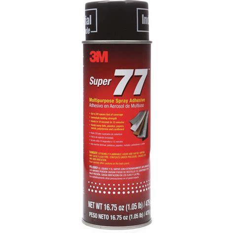 3M Adhesive Spray 16 75 Oz Can 3MA23 Super 77 Grainger