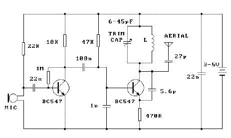 3V FM Transmitter Electronic Circuits
