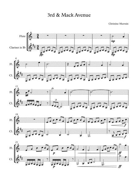 3rd Mack Avenue Flute Clarinet Duet music sheet