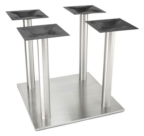 4 Aluminum Square Dining Table Legs Stainless Steel Look
