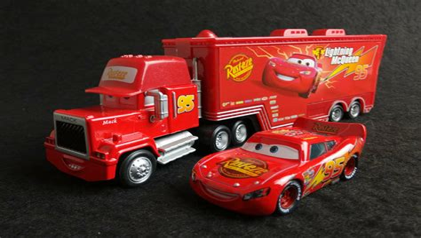 4 Pixar CARS Trucks Haulers Mack Hauler Rust eze Mood