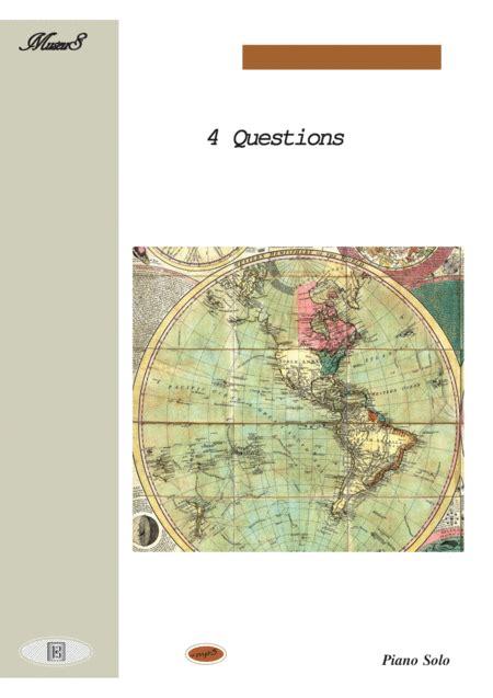 4 questions a latin rhythm piano solo music sheet