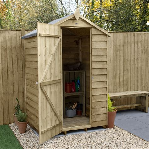 4X3 Apex Overlap Wooden Shed Departments DIY at B Q
