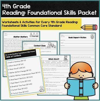 4th Grade CCSS Reading Foundational Skills