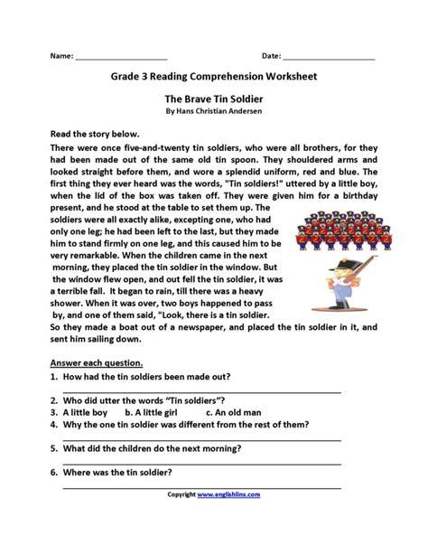 4th Grade Reading Comprehension Wordville