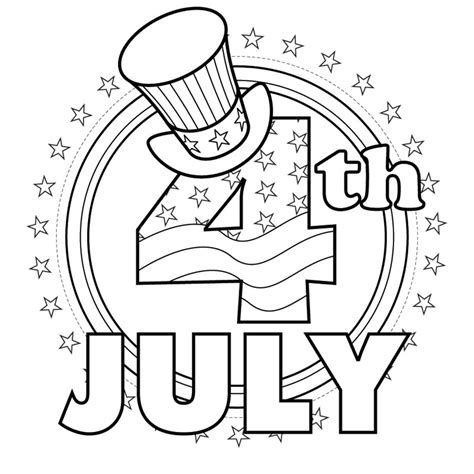 4th of JULY coloring pages Coloring pages Printable
