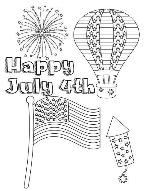 4th of July Coloring Pages Free and Printable