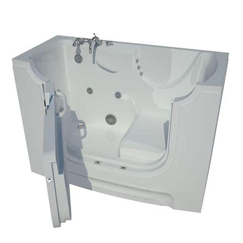 5 ft Left Drain Walk In Whirlpool Bath Tub in White