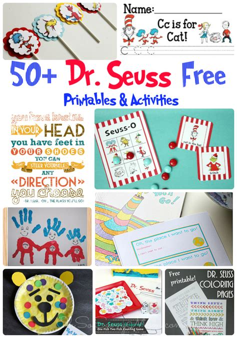 50 FREE Dr Seuss Printables and Activities Oh So