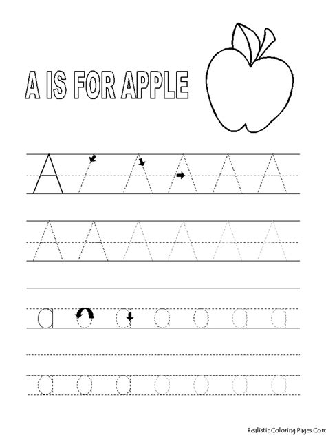 52 FREE Alphabet Coloring Pages Trace Color