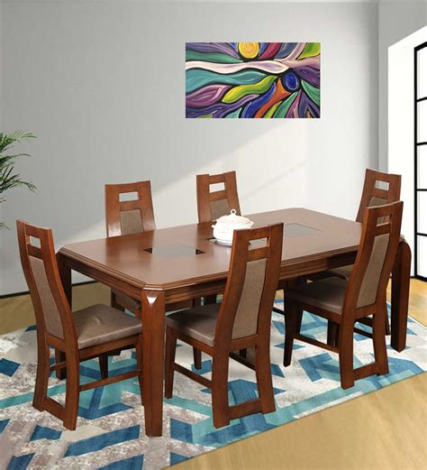 6 Seater Dining Table Online Six Seater Dining Table Set