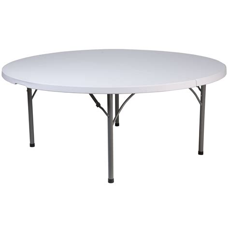 6 ft Round Plastic Folding Banquet Table Folding Tables
