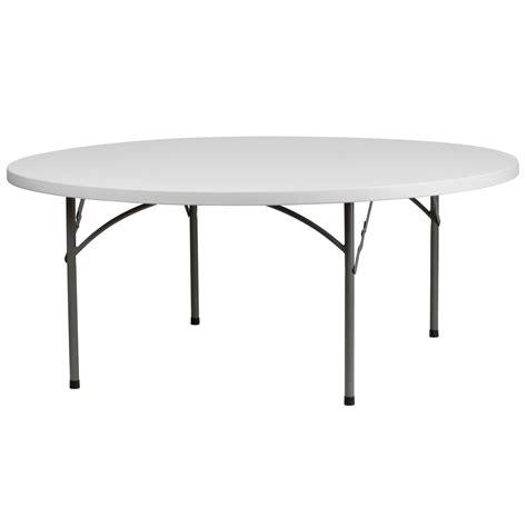 6 round folding table