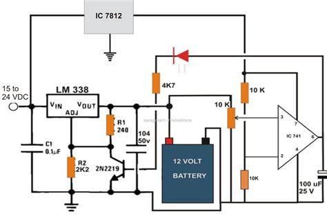 6V 12V 24V Battery Charger Circuit Electronic Circuit