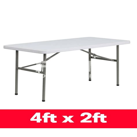 6ft Folding Tables Plastic and Wooden FTUK