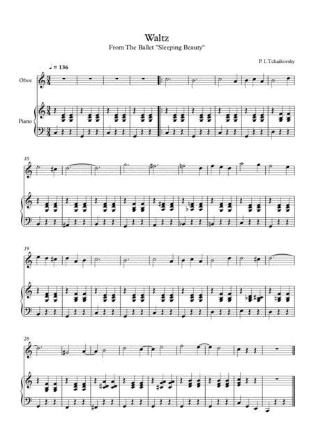 7 Easy Classical Waltzes For Oboe Piano music sheet
