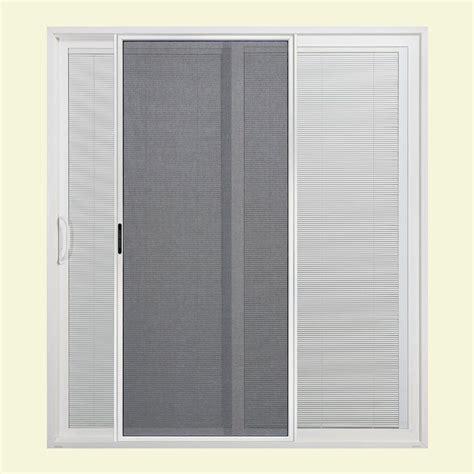 72 in x 80 in White Left Hand Premium Sliding Patio Door