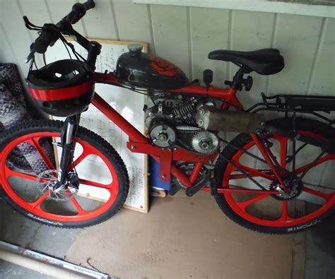 79cc Motorized Bicycle From Scratch 89 Steps with Pictures
