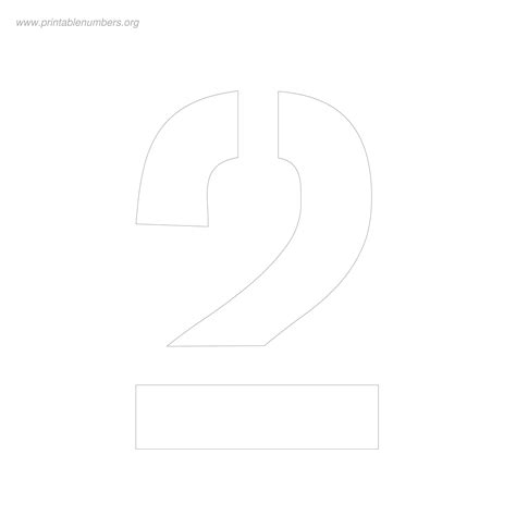 8 Inch Number Stencils to Print Printable Numbers Org