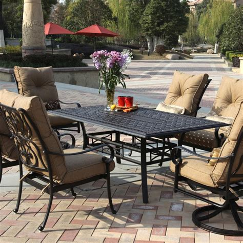 8 seat outdoor cast aluminium and rattan dining sets