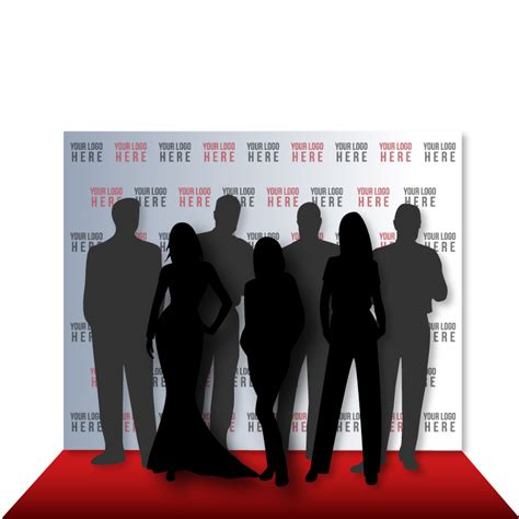 8 x 10 Step and Repeat Backdrop for Red Carpet