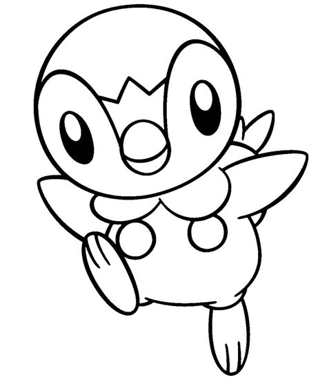 88 Pokemon Coloring Pages Piplup Pokemon Coloring