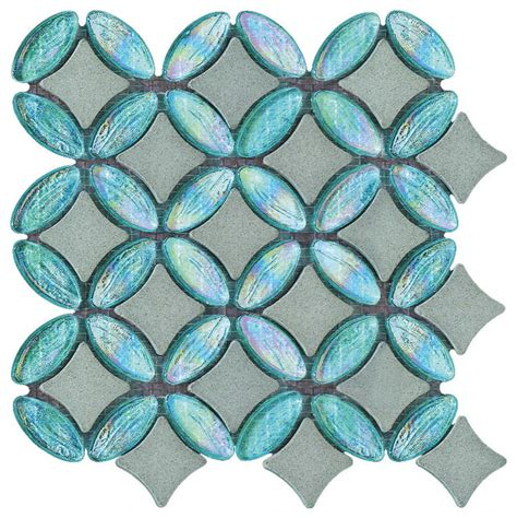 9 75 x9 75 Art Porcelain Floor Wall Tiles Set of 16