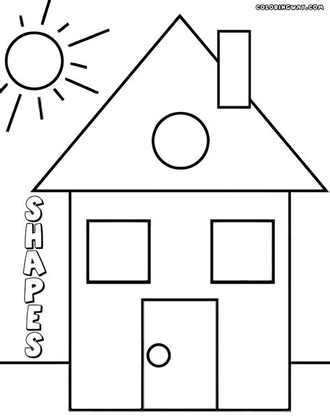9 Shapes Coloring Pages Print Shapes Pictures to Color