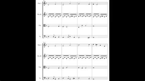 911 Minimalist String Quartet  music sheet