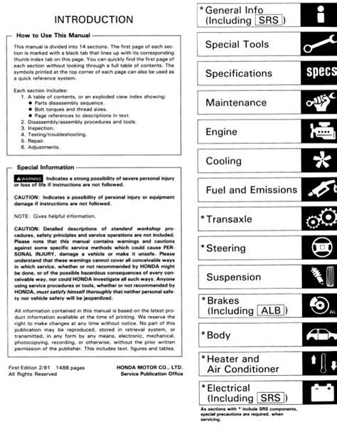 free download ebooks 92 Acura Legend Repair Manual.pdf