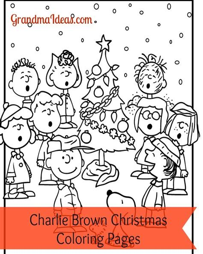 A Charlie Brown Christmas Coloring Activity Grandma Ideas