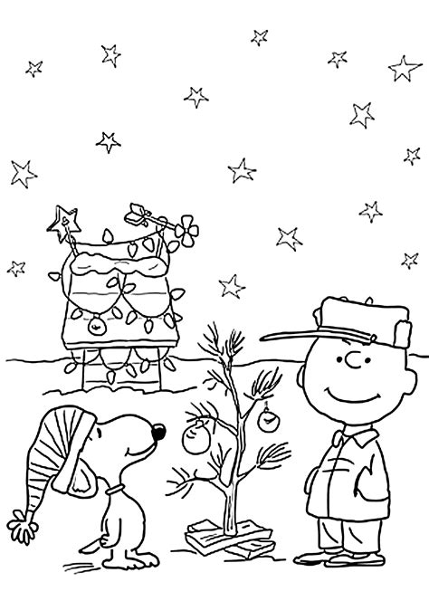 A Charlie Brown Christmas Coloring Activity Pinterest