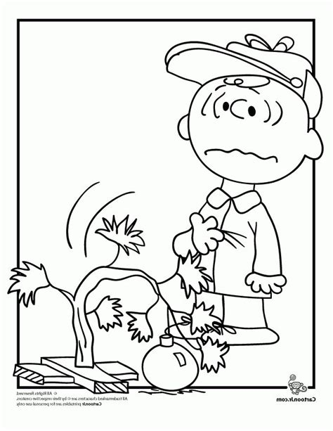 A Charlie Brown Christmas Coloring Pages Woo Jr Kids