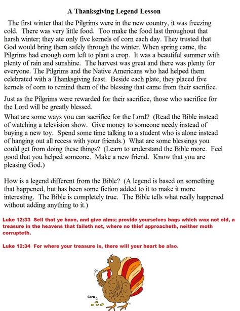 A Children s Thanksgiving story Thanksgiving religious