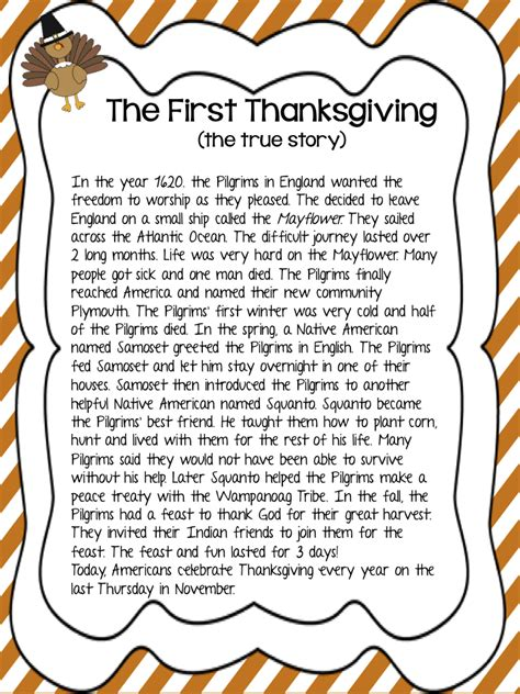 A Children s Thanksgiving story The First Thanksgiving